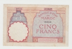 Morocco 5 Francs 14-11- 1941 P 23Ab 23A B - Morocco