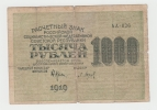 Russia 1000 Rubles 1919 VG - Russie