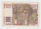 France 100 Francs 1952 AXF CRISP Banknote P 128d 128 D - 1871-1952 Anciens Francs Circulés Au XXème