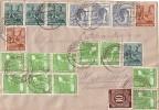 Gemeina. Brief Zehnfachfr. Minr.918,9x 946,3x 947,4x 949,2x 951 Hannover 22.6.48 - Gemeinschaftsausgaben