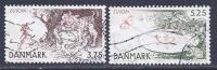 Denmark, Scott # 1078-9 Used Europa, 1997 - Gebraucht