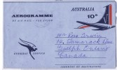 1966  10 D.  Aerogramme Airplane Tail To Canada - Aerogrammes
