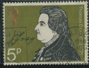 1971 - Europe - Grande-Bretagne - Effigie De Thomas Gray - 5 P Olive Et Noir - - Used Stamps