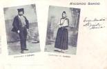 Ricordo Sardo(Nuoro-Sassari)-Costume Di Ozieri E Costume Di Nuoro-1901 - Nuoro