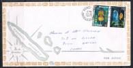 NOUVELLE-CALEDONIE ENVELOPPE AVEC AERIEN N°142 Et 145 Avec Cachet De Nouméa