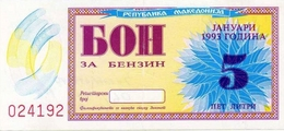 MACEDONIA BON 5 & 10 AU CONDITION 1993 - Macedonia