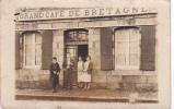 18322 Carte Photo à Identifier : Grand Café De Bretagne . Année 30 Sans Doute . - Bretagne