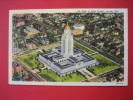 Nebraska > Lincoln  --Air View State Capitol   Linen  == Ref 274 - Autres
