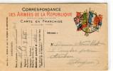 CPA CORRESPONDANCE DES ARMEES DE LA REPUBLIQUE - Weltkrieg 1914-18