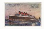 """Carte 1920 """" S S FRANCE """" PAQUEBOT  CIE GALE TRANSATLANTIQUE (carte Signée Comme Une Aquarelle) - Dampfer"""