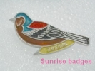 Animals: Birds Fringilla Coelebs - Chaffinch - Common Chaffinch / Old Soviet Badge _35_an9201 - Animals
