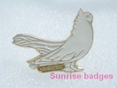 Animals: Birds Lopholaimus Antarcticus - Topknot Pigeon / Old Soviet Badge _35_an9202 - Animales