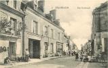 MANTHELAN : Hotel Du Lion D'Or Rue Nationale. 2 Scans. - France