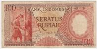 Indonesia 100 Rupiah 1958. VF - Indonésie