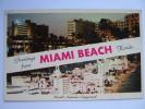 Fabulous Hotel Row Miami Beach Florida FL Postcard - Miami Beach