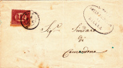 ITALIE - 1876 - TIMBRE De SERVICE SASSONE N° 1 SEUL Sur LETTRE De BIELLA Pour CAMANDONA - Service