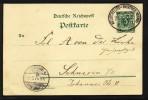 Bahnpost: Neustrelitz-Rostock Zug  75 , 1 Karte Von 1897 ! - Deutschland