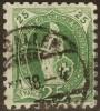 Stehende Helvetia, 25 Rp.grün  Weite Zähnung     1888 - Gebraucht