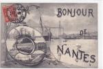 18391 Bonjour De Nantes.  Dugas ?  Bouée Bateau . - Nantes