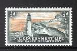NEW ZEALAND - 1947 LIFE INSURANCE 1/2d LIGHTHOUSE FINE MINT MM - Lighthouses