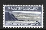 NEW ZEALAND - 1947 LIFE INSURANCE 2d LIGHTHOUSE FINE MINT MM - Lighthouses
