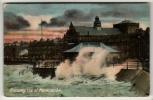 Lancashire - Morecambe, A Stormy Sea - Postcard - Angleterre