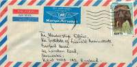 KENYA  Air Mail Letter To USA  1992  11/-  Buffalo  Sc 571 - Kenya (1963-...)