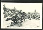Artiste-CPA Curt Schulz-Steglitz: Thulin, Vernichtung Des 9. Engl. Lancierregiments Durch Maschinengewehrfeuer, Schlac - War 1914-18