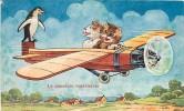 CHATS Humanisés Habillés , Cat Cats , Chatons Dessin ( Avion ) , * 124 09 - Katten