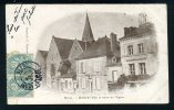 37 - BLERE - Hôtel De Ville Et Entrée De L´ Église - CARTE PRÉCURSEUR DE 1905 - Bléré