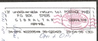 If Undeliverable Return To Gibraltar Lnazarote 1998 - Gibraltar