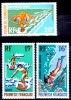 Lot 3 Timbres SPORTS NAUTIQUES Polynésie Française : Surf, Plongée, Cerf-volant - Stamps
