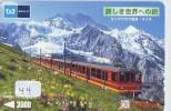 Télécarte SUISSE Reliée (44) SUISSE Montagne Mountain Japan Phonecard Telefonkarte Switzerland Schweiz Verbunden * TRAIN - Bergen