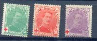 Belgie - Belgique  Ocb Nr :  129 - 131 * MH   (zie  Scan) - 1918 Red Cross