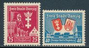 DANZIG 1937 GERMAN OCCUPATION SC B20-21 VF MNH CV$22- AND GETTING BETTER - Poland