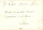 Lettre Avec Contenu Datée Du 24-06-1803 Marque De Lille 57 En Noir Vers Amiens 6 De Port - 1794-1814 (French Period)