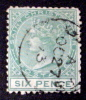SAINT. CHRISTOPHER # 3.  6p, QUEEN VICTORIA. USED - St.Christopher-Nevis-Anguilla (...-1980)