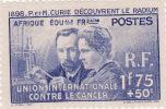 N° 63   Neuf  **     Mais Pliure Du Timbre    40 Anni  De La Découverte Du Radium - A.E.F. (1936-1958)