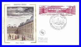 2288 (Yvert) Sur Enveloppe Premier Jour Illustrée Sur Soie - Série Touristique Charleville-Mézières - France 1983 - 1980-1989