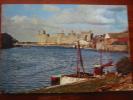 Caernarvon Castle Fishing Boat Harbour Used 1958 Postcard - Caernarvonshire