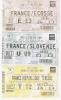 EQUIPE DE FRANCE DE FOOTBALL  3 BILLETS (FRANCE SOLVENIE 5.0 2002) (FRANCE ECOSSE 5.0  2002) (FRANCE TCHEQUIE 0.2 2003) - Otros