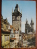 Prague Old Town Square Tyn Church Czechoslovakia 1968 Used Postcard - Czech Republic