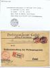 Deutsland Brief Einschreiben, 1920 Meiningen -> Cassel,  Misch Frankatur Mit Diensmarken