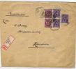 Deutsland Brief Einschreiben, 1923 Lobenstein (Reuss)  -> Hannover,  Misch Frankatur 260 Mark, Hinterseite Gerissen - Germania