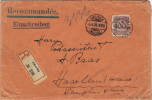 Liechtenstein 1926 Einschreiben, Amerika -> Haarlem Niederlande, Michel 343, Hinterseite Markenbörse Vaduz Liechtenstei - Briefe U. Dokumente