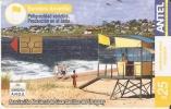 Nº 313 TARJETA BANDERA AMARILLA DE 25$  PLAYA - Uruguay
