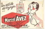 Buvard - Vloeipapier  Pub. Reclame Article De Voyage - Marcel Avez - Valenciennes - Buvards, Protège-cahiers Illustrés
