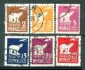 Alt Norwegen 1925  [n0107] Satz Mi# 109 - 115 OHNE 112 Gestempelt - Noruega