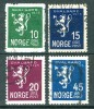 Alt Norwegen 1925  [n0109] Satz Mi# 116 - 119 Gestempelt - Noruega