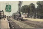 MIGENNES (89) Manoeuvre En Gare CPA Voyagée En 1908 - Estaciones Con Trenes